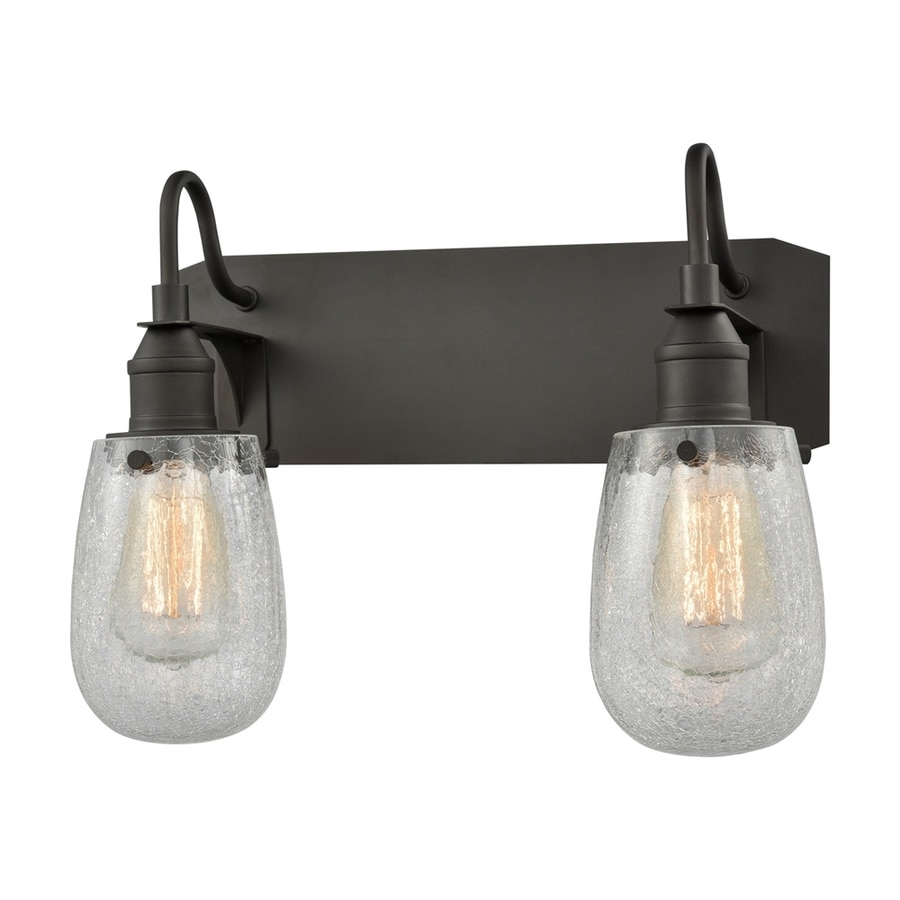 Teardrop Glass Vanity Light : Shop Innovations Lighting 2-Light 12-in Oiled Rubbed Bronze Teardrop Vanity Light at Lowes.com