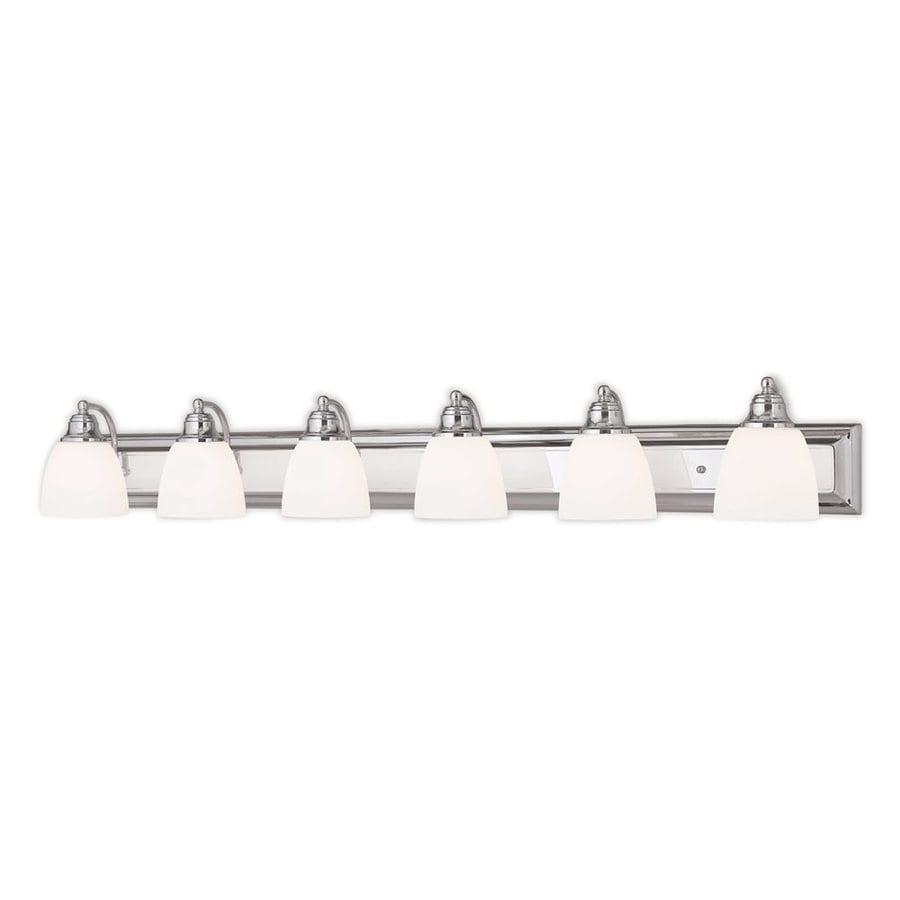 Livex Lighting Springfield 6-Light 7-in Chrome Bell Vanity Light Bar