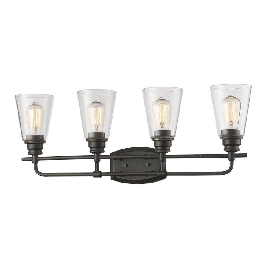 Z-Lite Annora 4-Light 10.75-in Olde Bronze Cone Vanity Light