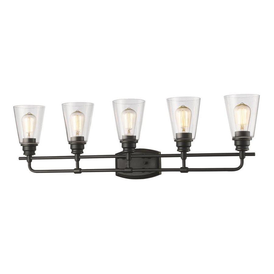 Z-Lite Annora 5-Light 10.75-in Olde Bronze Cone Vanity Light