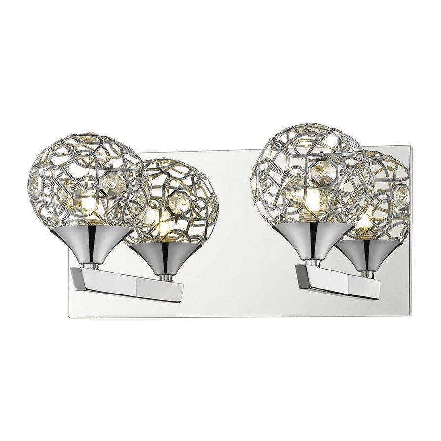 Lowes Vanity Light Globes : Shop Z-Lite Nabul 2-Light 6-in Chrome Globe Vanity Light at Lowes.com