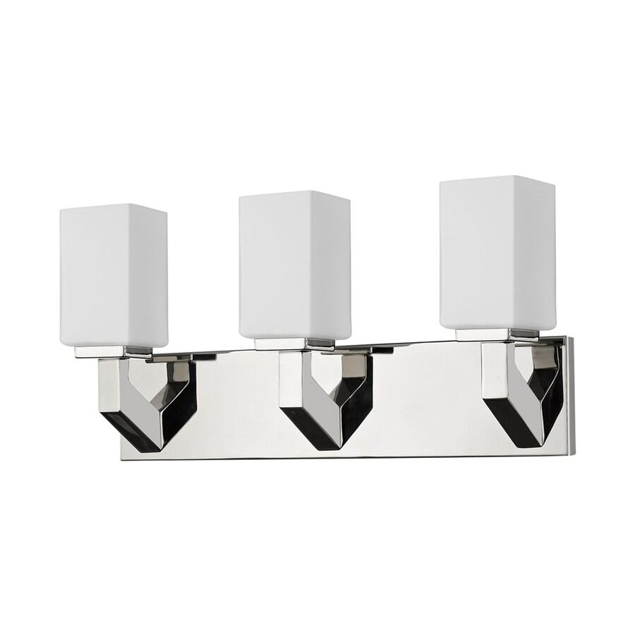 Acclaim Lighting Magnolia 3-Light 10-in Polished Nickel Rectangle Vanity Light