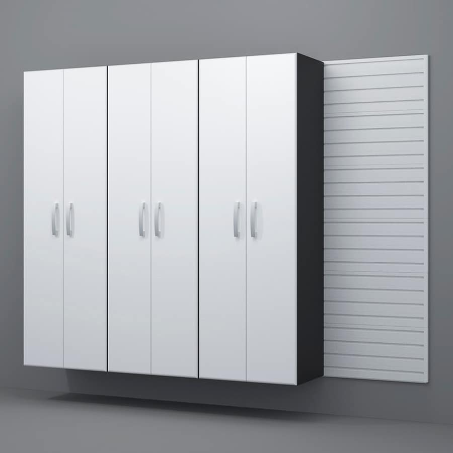 Shop Flow Wall Systems 96 In W X 72 In H White Steel