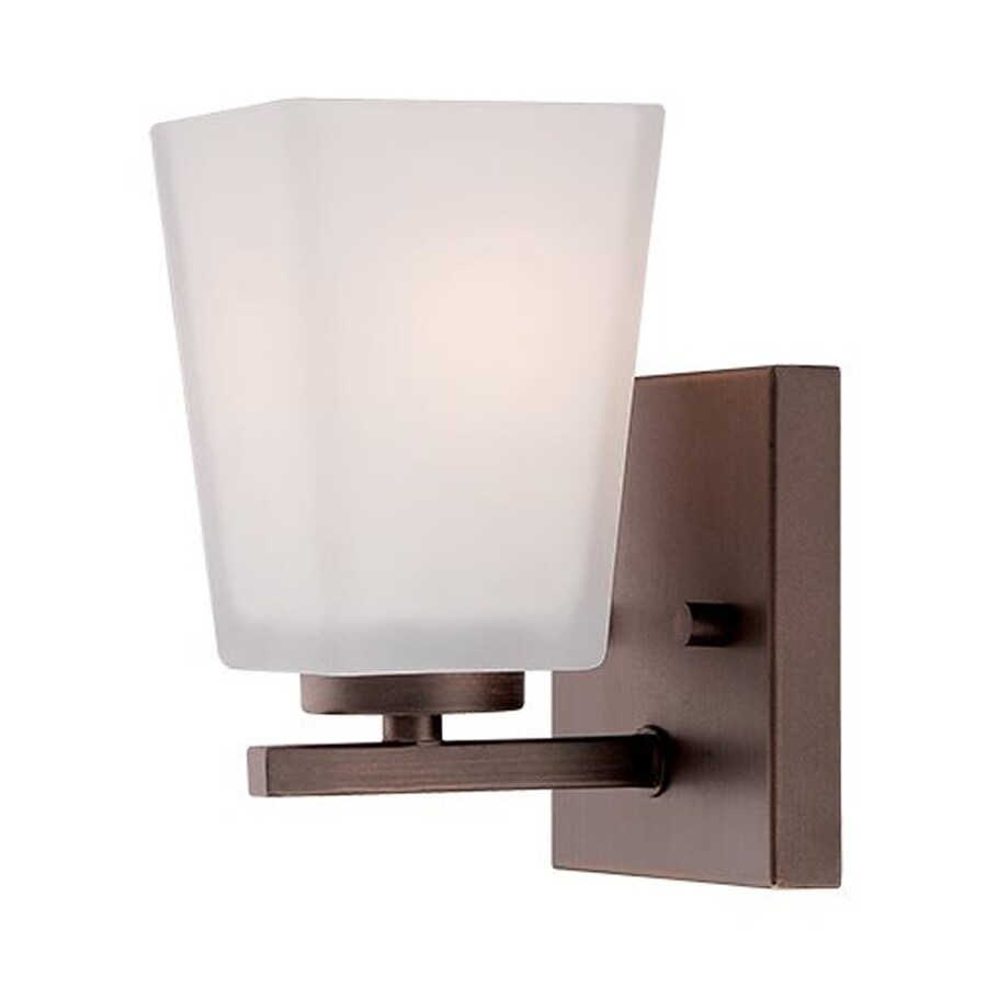 Millennium Lighting 4.5-in W 1-Light Rubbed Bronze Arm Wall Sconce