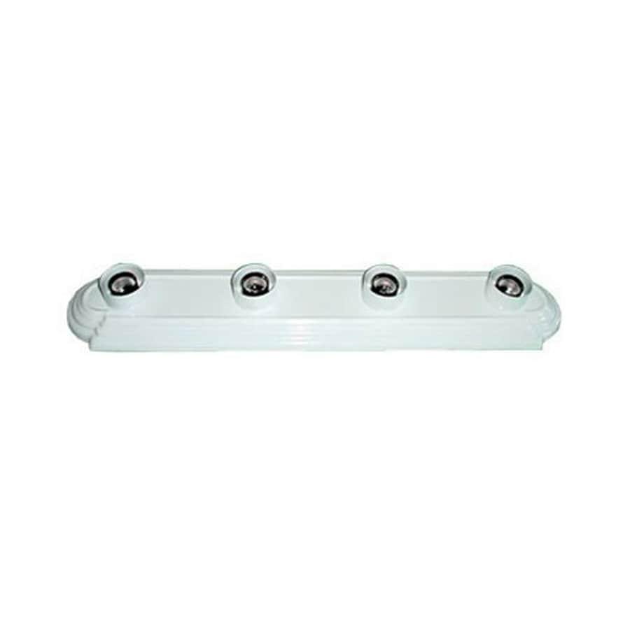 Adjustable Vanity Light Bar : Shop Whitfield Lighting Victor 4-Light 4.5-in White Vanity Light Bar at Lowes.com