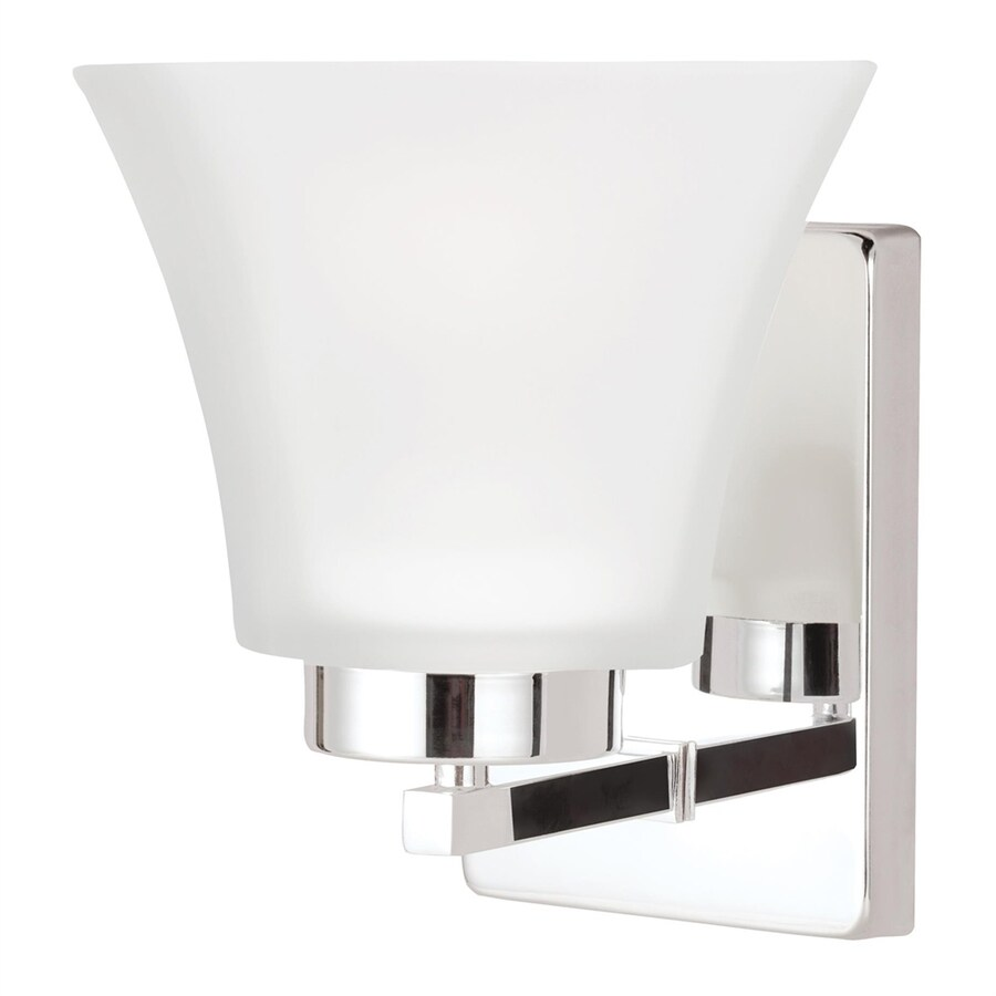 Sea Gull Lighting Bayfield 5-in W 1-Light Chrome Arm Wall Sconce