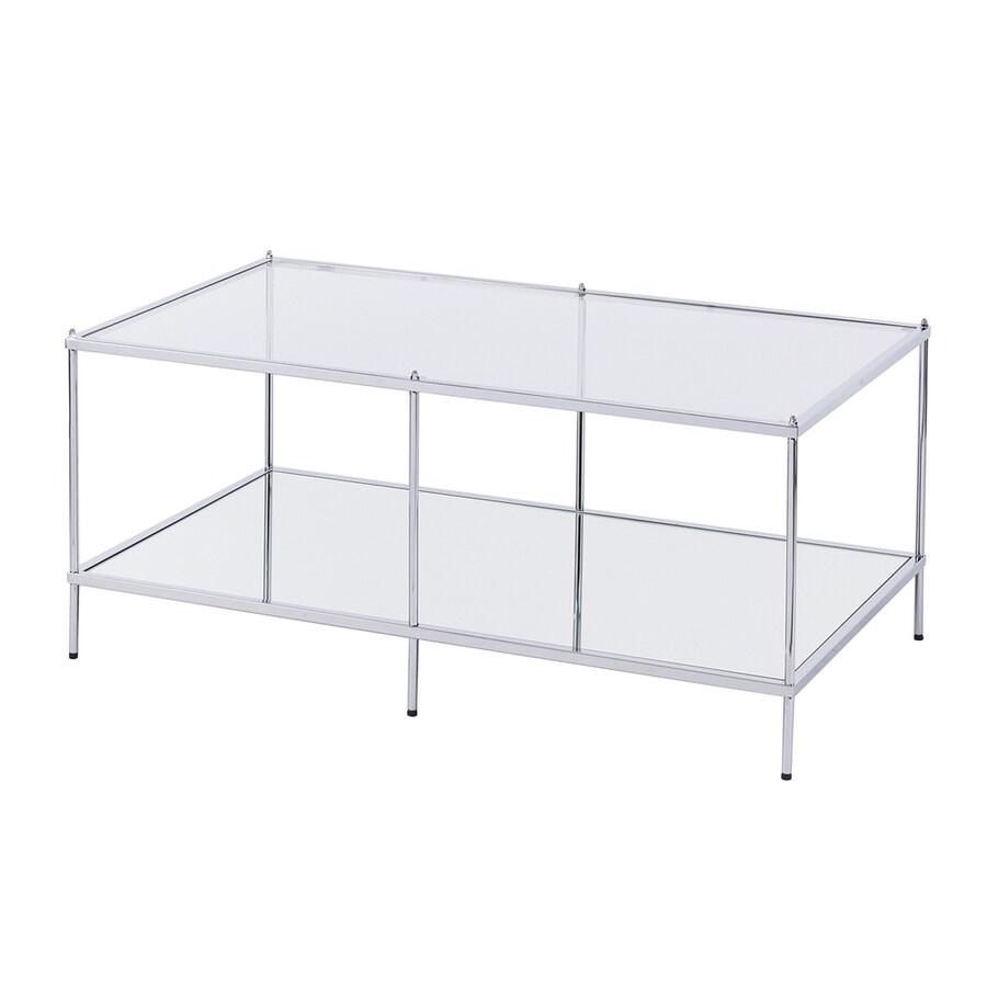 Shop boston loft furnishings hawthorne mirrored glass for Mirrored rectangular coffee table