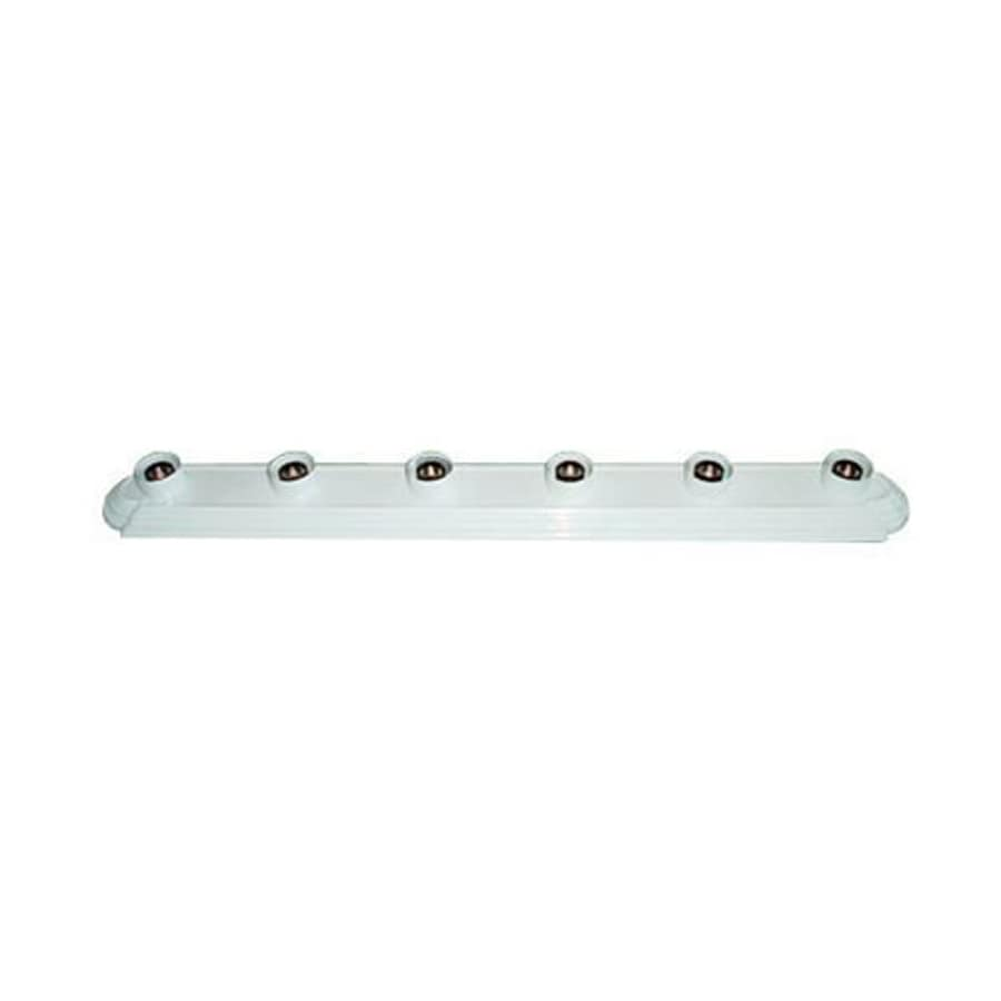 Shop whitfield lighting victor 6 light 36 in white vanity light bar whitfield lighting victor 6 light 36 in white vanity light bar aloadofball Choice Image