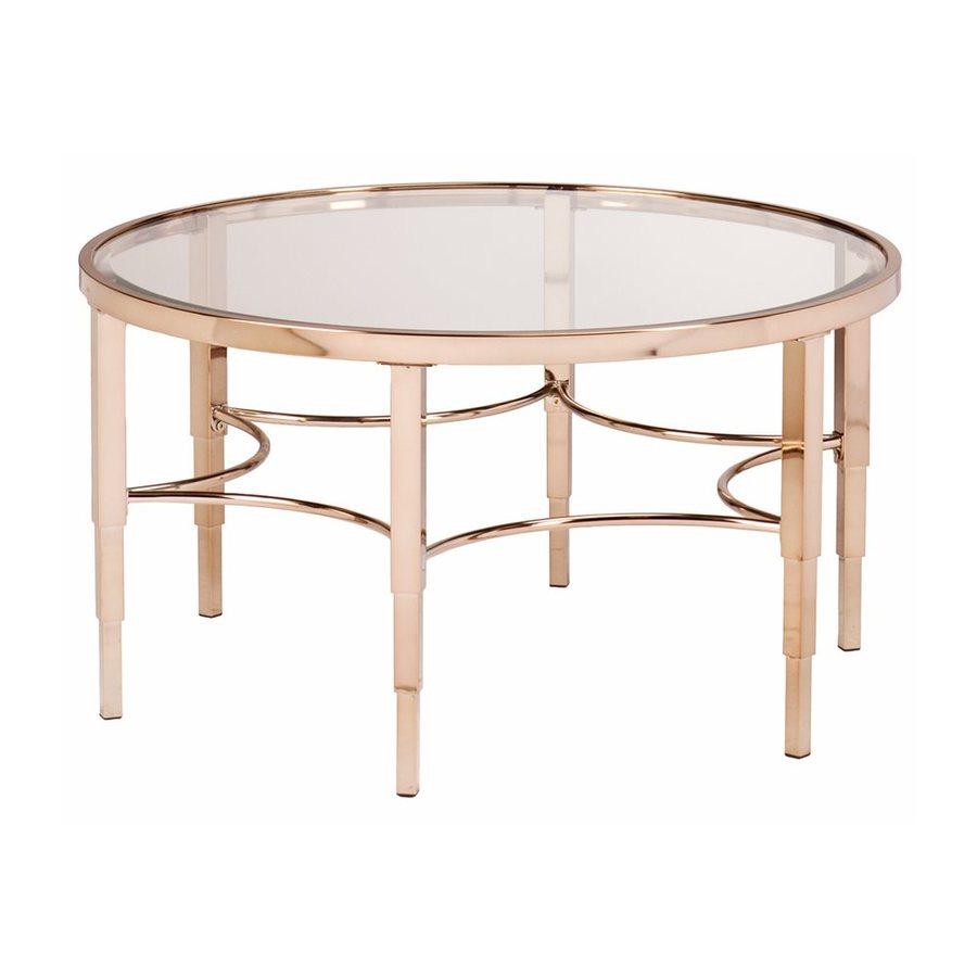 Boston Loft Furnishings Monroe Clear Glass Round Coffee Table