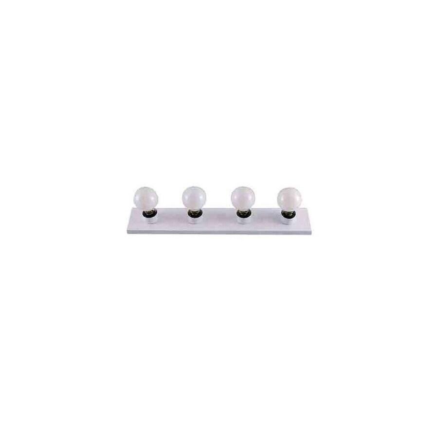 Adjustable Vanity Light Bar : Shop Whitfield Lighting Vanessa 4-Light 4.5-in White Vanity Light Bar at Lowes.com