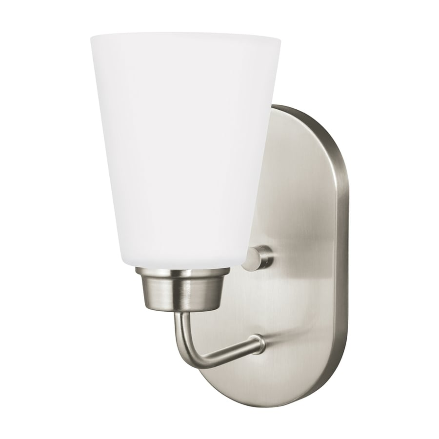 Sea Gull Lighting Kerrville 4.625-in W 1-Light Brushed Nickel Arm LED Wall Sconce