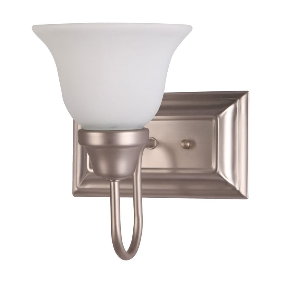 Whitfield Lighting Karly 9.75-in W 1-Light Satin Nickel Arm Wall Sconce