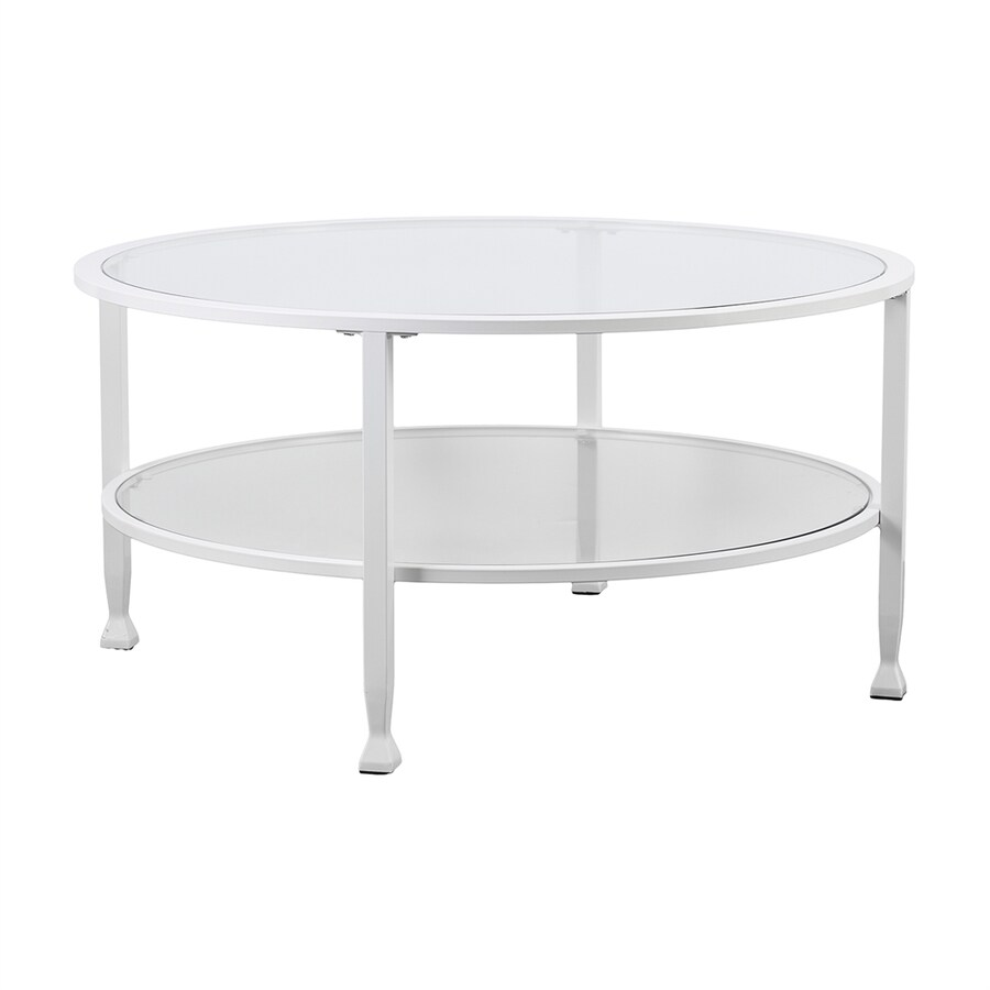 Puro Glass Coffee Table Clear: Boston Loft Furnishings Lea Clear Glass Round Coffee Table