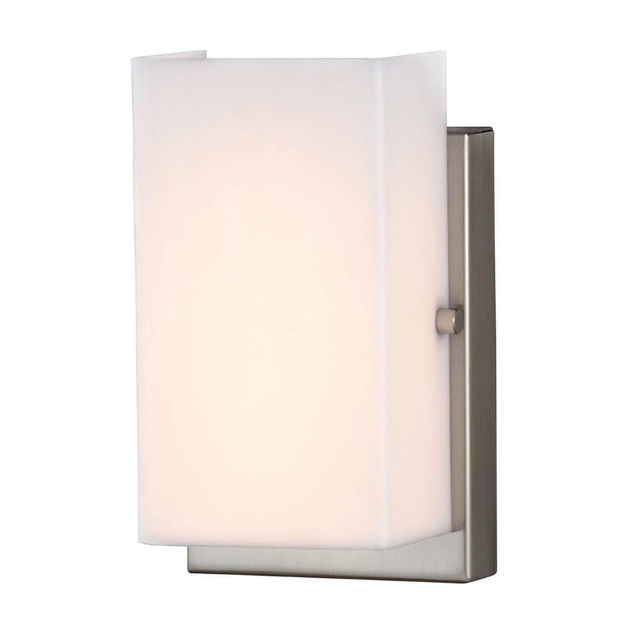 Sea Gull Lighting Vandeventer 4.5-in W 1-Light Brushed Nickel Wall Wash LED Wall Sconce