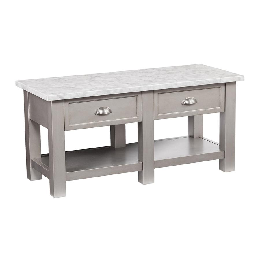 Rectangle Faux Marble Coffee Table: Boston Loft Furnishings Yafou Gray Poplar Faux Marble