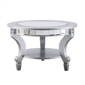 Boston Loft Furnishings Leyton Mirrored Glass Round Coffee Table