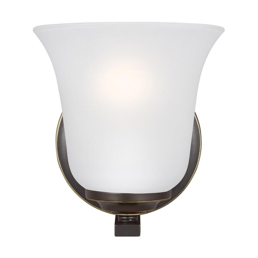 Sea Gull Lighting Emmons 5.875-in W 1-Light Heirloom Bronze Arm LED Wall Sconce