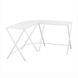 Boston Loft Furnishings Aelon Contemporary Clear Corner Desk