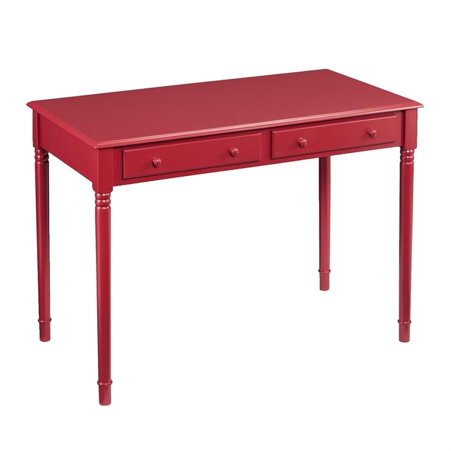 Boston Loft Furnishings Lynford Transitional Rustic Red Writing Desk