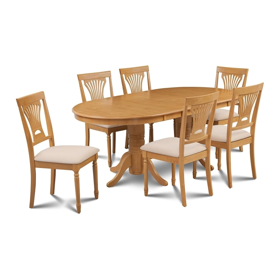 M&D Furniture Somerville Oak Dining Set with Oval Dining Table