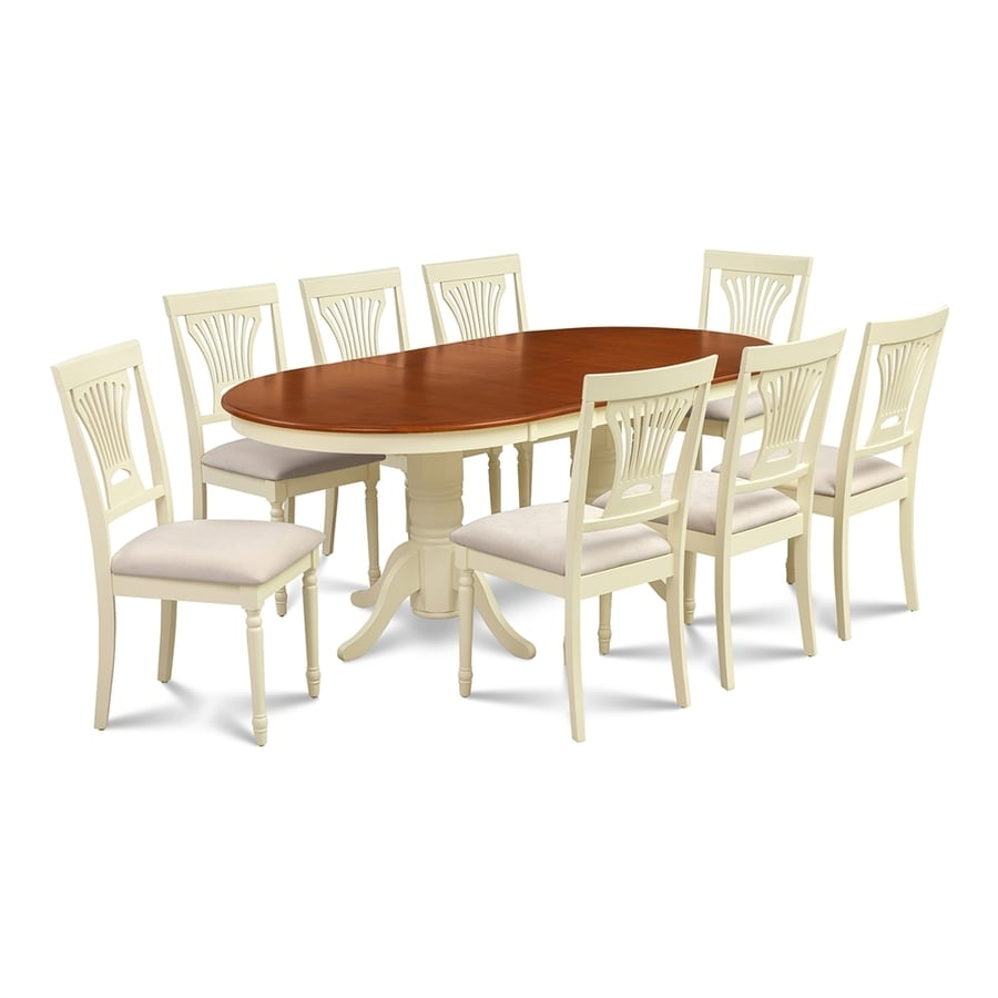 Mu0026D Furniture Somerville Buttermilk/Cherry Dining Set With Oval Dining Table