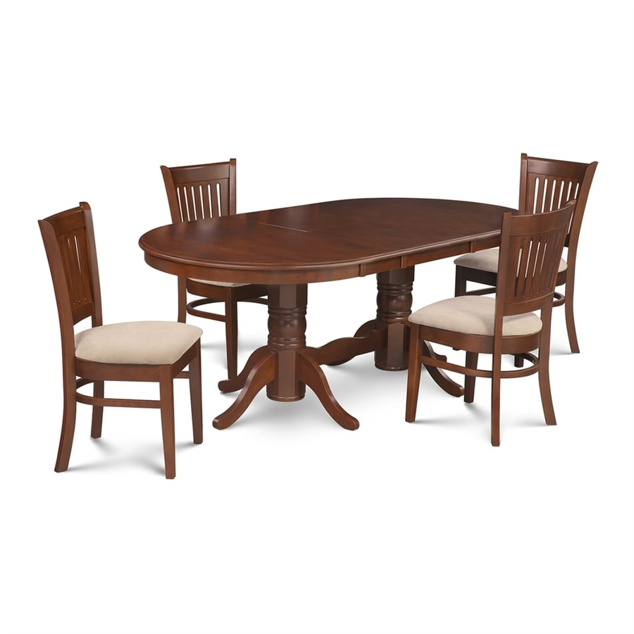 M&D Furniture Somerville Espresso Dining Set with Oval Dining Table
