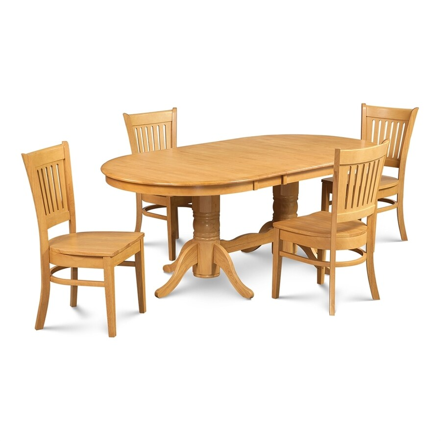 Awesome Mu0026D Furniture Somerville Oak Dining Set With Oval Dining Table