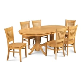Mu0026D Furniture Somerville Oak Dining Set With Oval Dining Table
