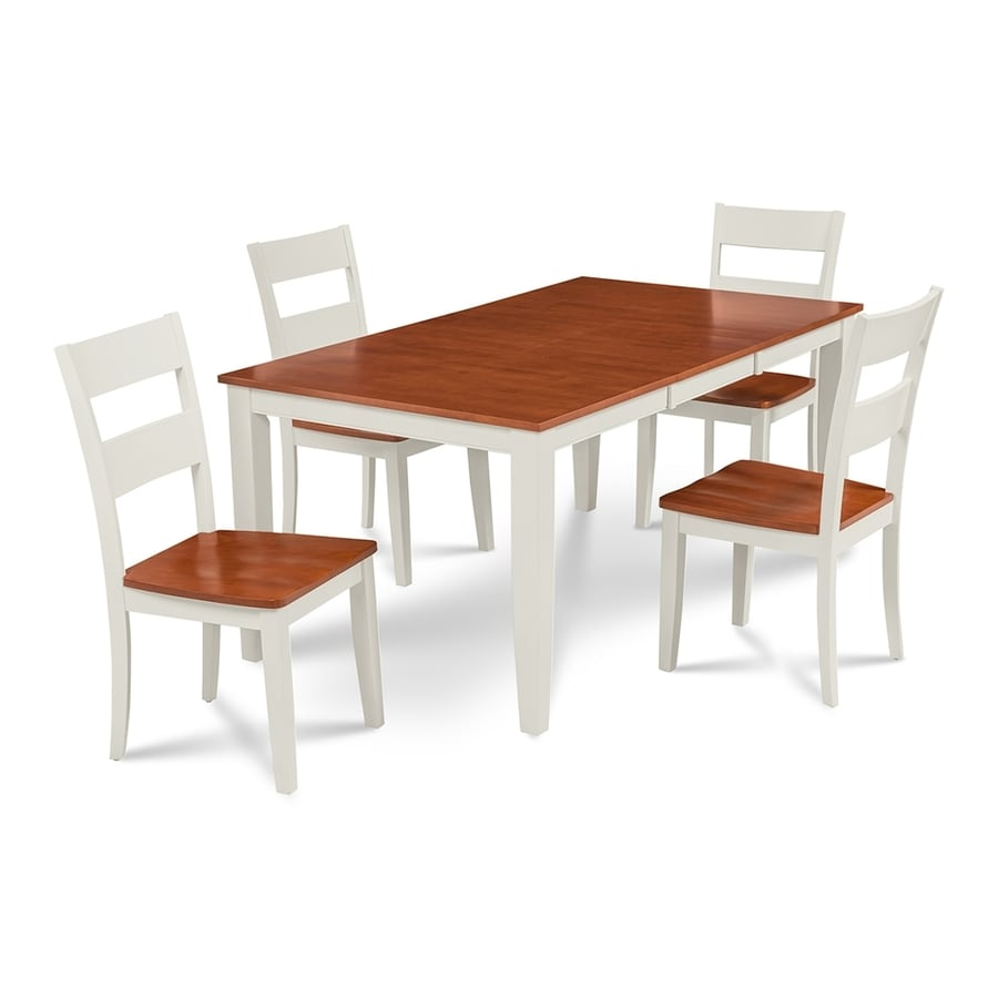 Mu0026D Furniture Sunderland White/Cherry Dining Set With Dining Table