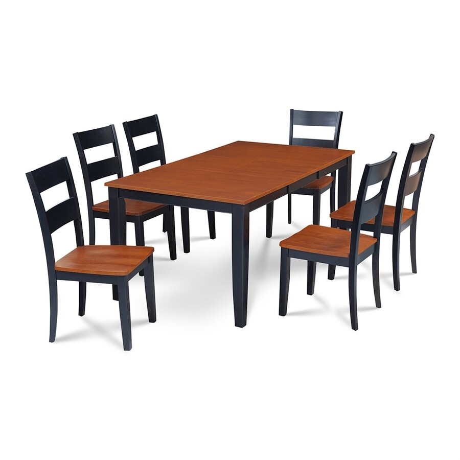 Shop MampD Furniture Sunderland BlackCherry Dining Set with  : 1000316659 from www.lowes.com size 900 x 900 jpeg 165kB