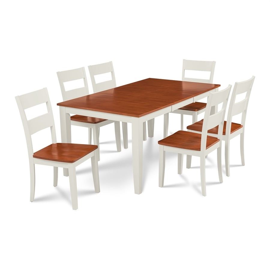 M&D Furniture Sunderland White/Cherry Dining Set with Dining Table