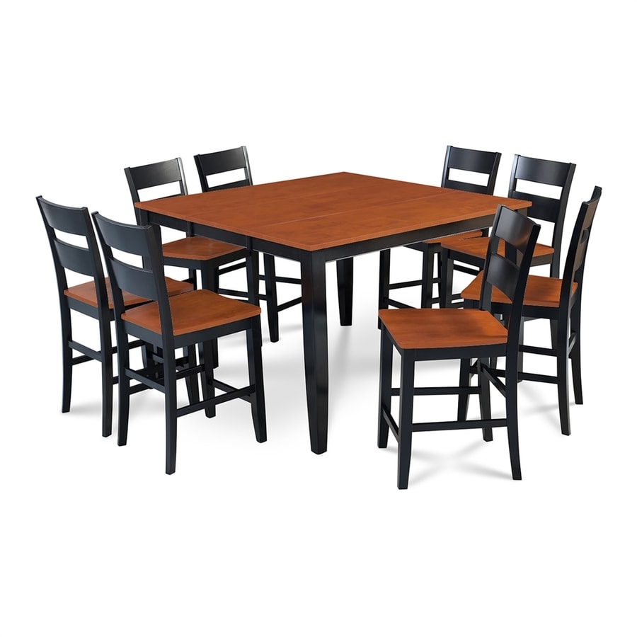 M&D Furniture Sunderland Black/Cherry Dining Set with Counter Table
