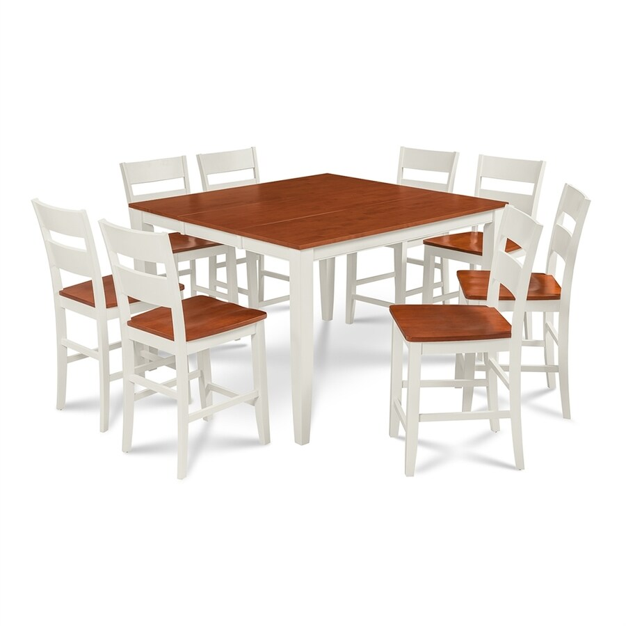 Mu0026D Furniture Sunderland White/Cherry Dining Set With Counter Table