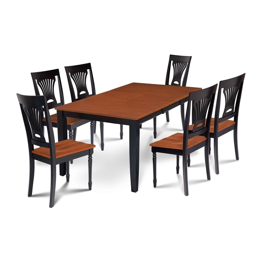 Shop m d furniture sunderland black cherry dining set with for Cherry dining table