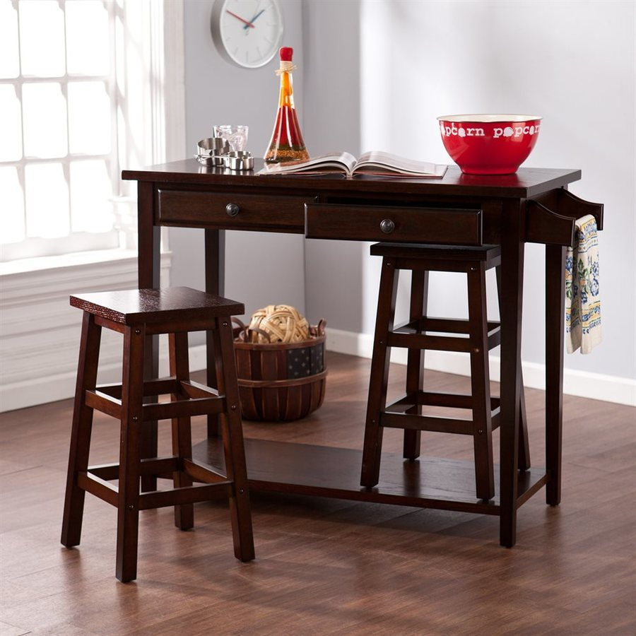 Boston Loft Furnishings Espresso Dining Set with Counter Table