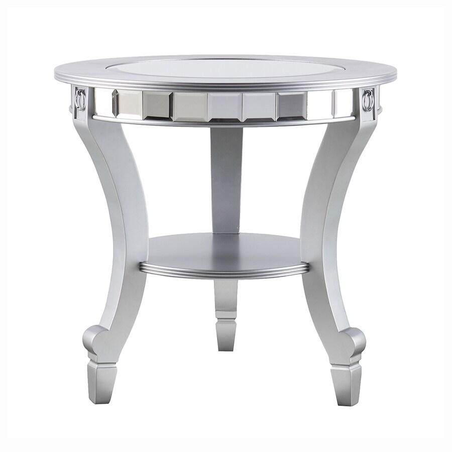 Boston Loft Furnishings Leyton Matte Silver Round End Table