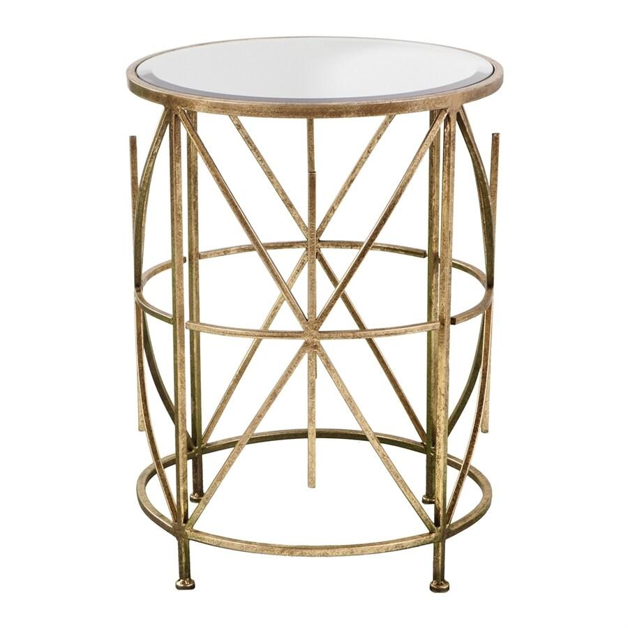 Boston Loft Furnishings Stravia Antique Gold End Table