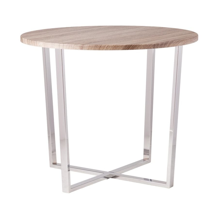 Boston Loft Furnishings Marin Sun-Bleached Gray Composite Round Dining Table