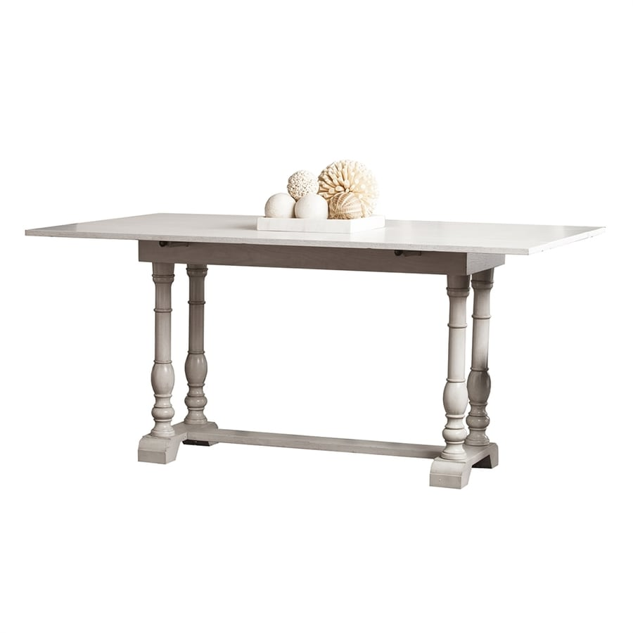 Shop boston loft furnishings trestle distressed white for Distressed white dining table