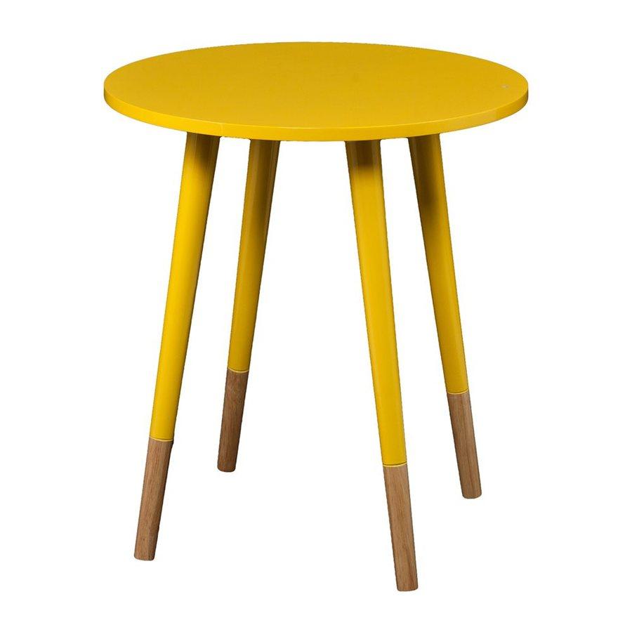 Boston Loft Furnishings Lana Yellow/Natural Rubberwood End Table