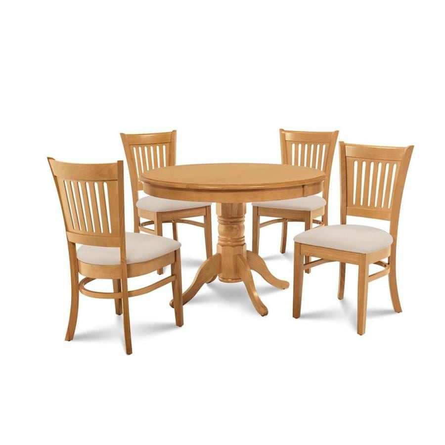 Shop MampD Furniture Brookline Oak Dining Set With Round