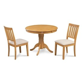 Mu0026D Furniture Brookline Oak Dining Set With Round Dining Table