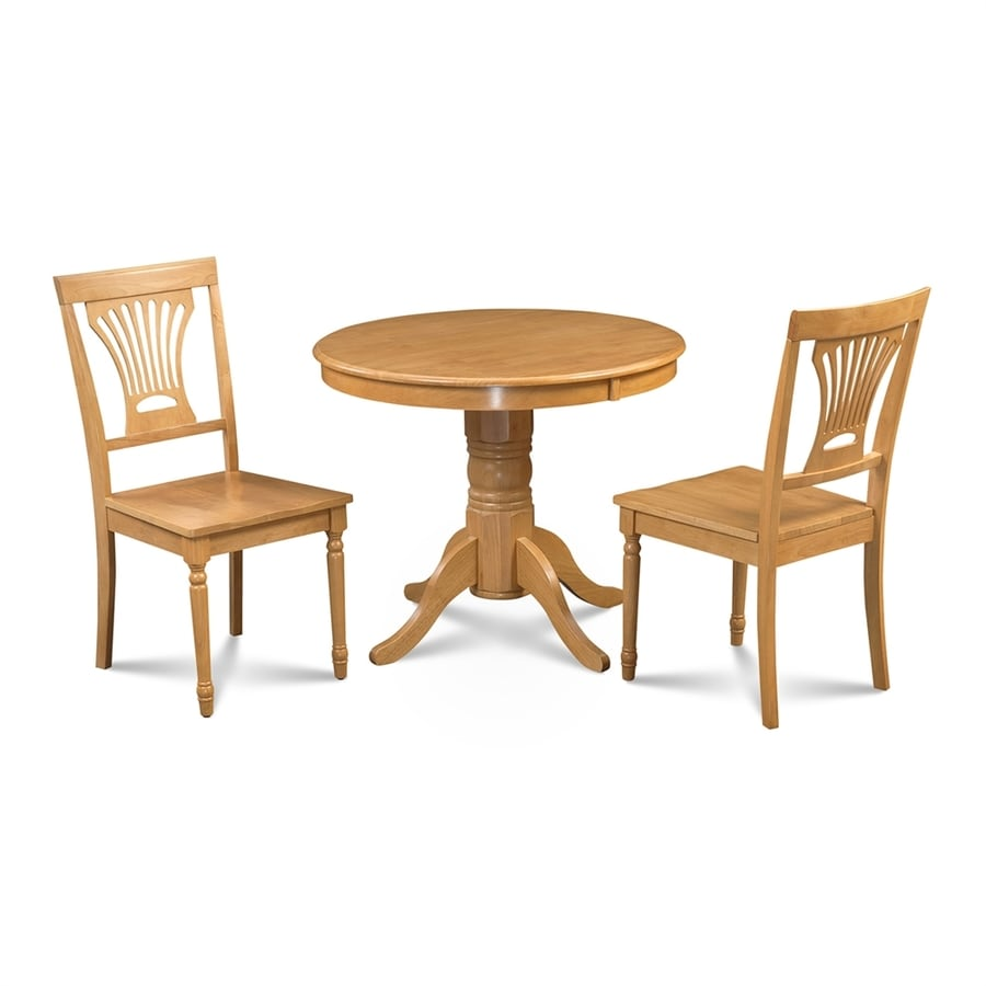 M&D Furniture Brookline Oak Dining Set with Round Dining Table