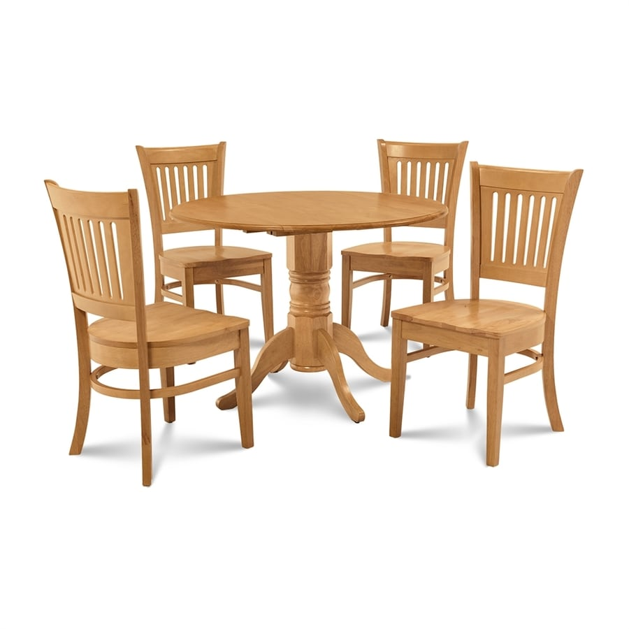 M D Furniture Burlington Oak Dining Set With Round Dining Table At