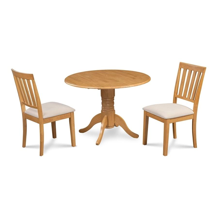 M&D Furniture Burlington Oak Dining Set with Round Dining Table