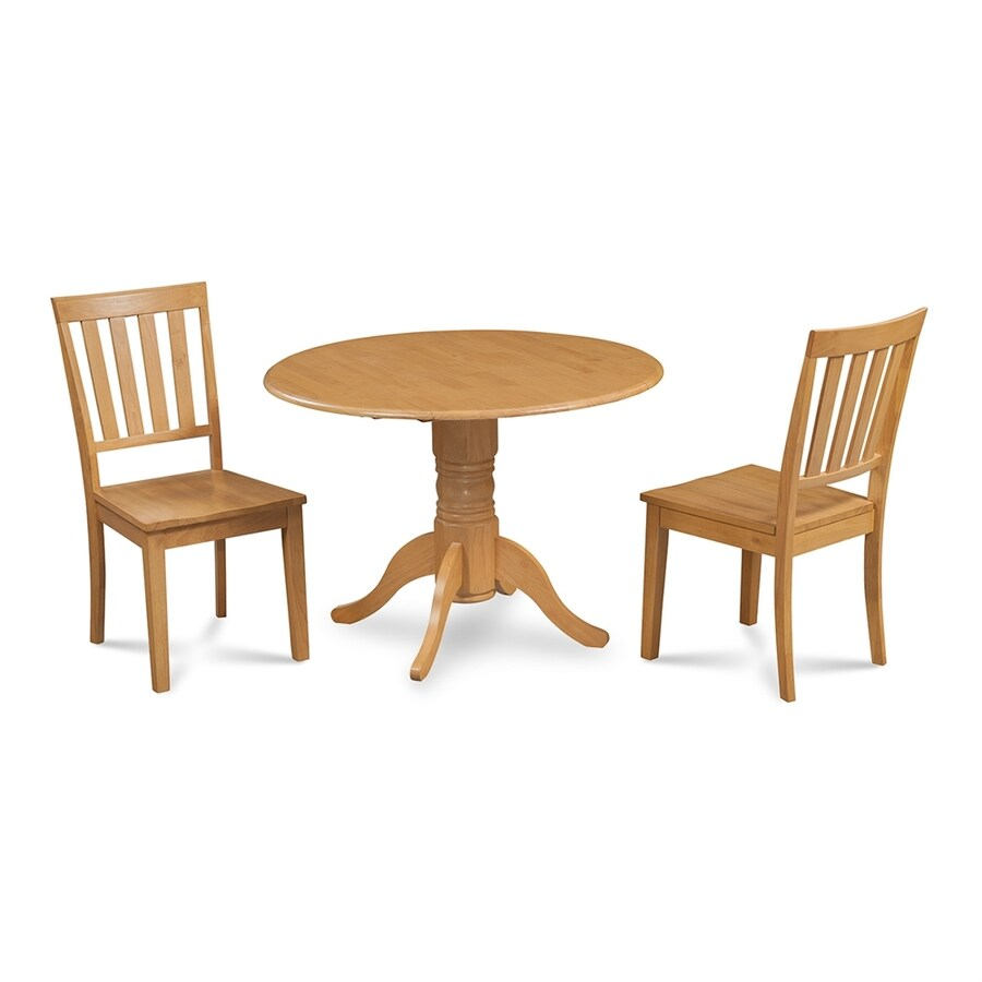 M&D Furniture Burlington Oak Dining Set with Round Dining Table