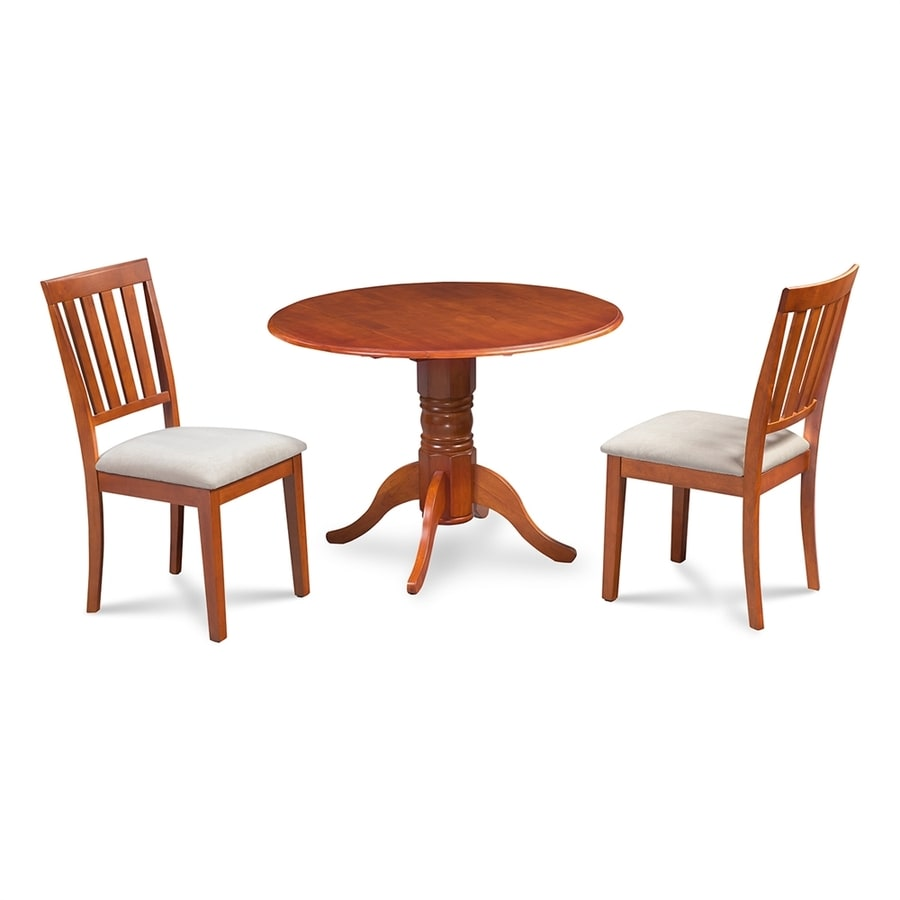 M&D Furniture Burlington Saddle Brown Dining Set with Round Dining Table