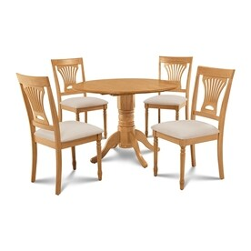 Mu0026D Furniture Burlington Oak Dining Set With Round Dining Table