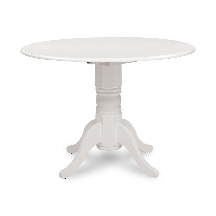 M&D Furniture Burlington White Wood Round Dining Table