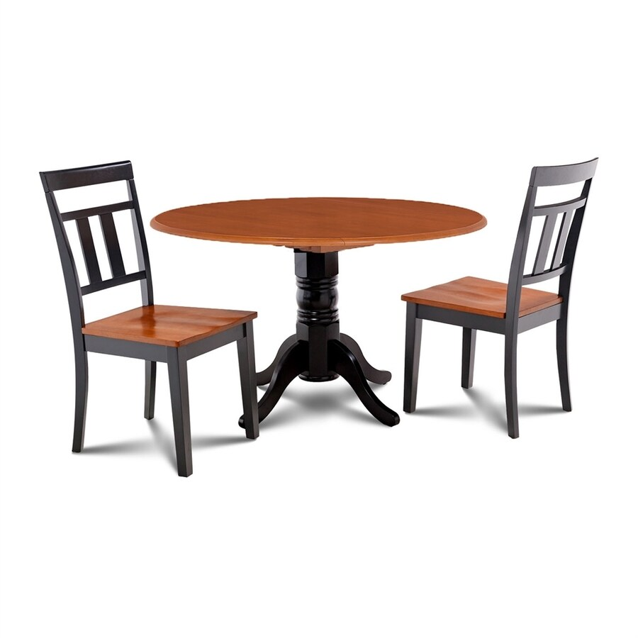 Shop m d furniture burlington black cherry dining set with round dining table at Kudos home design furniture burlington on